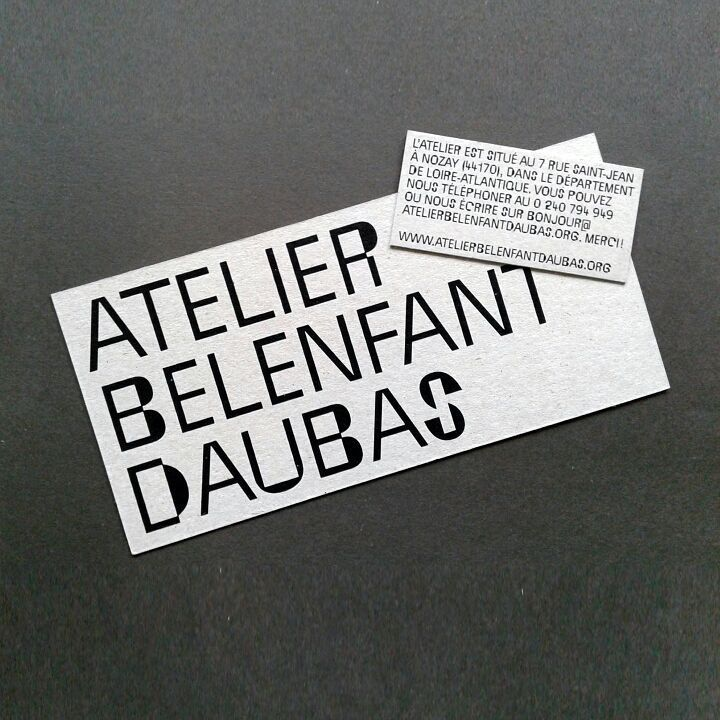 Exclusive typedesign for Atelier Belenfant Daubas, design Antonin Faurel #architecture #design #typography