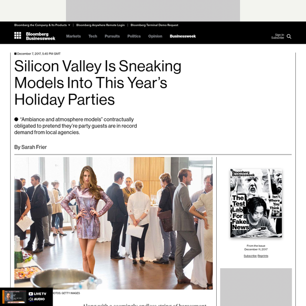 Along with a seemingly endless string of harassment and discrimination scandals, Silicon Valley's homogeneity has a more trivial side effect: boring holiday parties. A fete meant to retain all your talented engineers is almost certain to wind up with a rather same-y crowd, made up mostly of guys.
