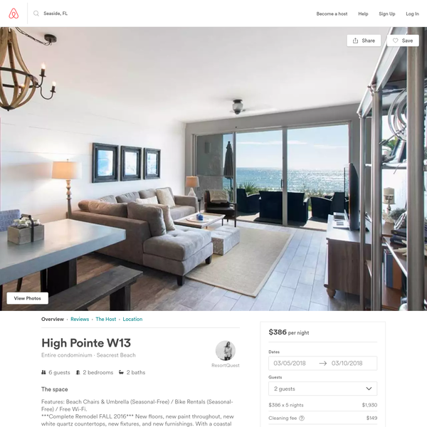 High Pointe W13 - Condominiums for Rent in Seacrest Beach, Florida, United States