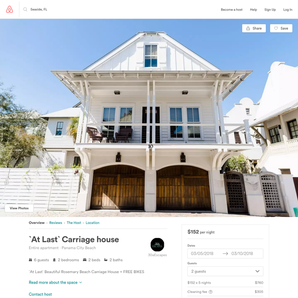 `At Last` Carriage house - Apartments for Rent in Panama City Beach, Florida, United States