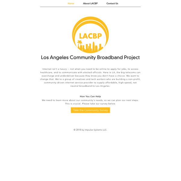LACBP | Los Angeles Community Broadband Project