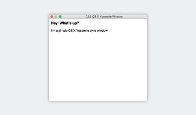 CSS OS X Yosemite Window