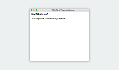 CSS OS X Yosemite Window