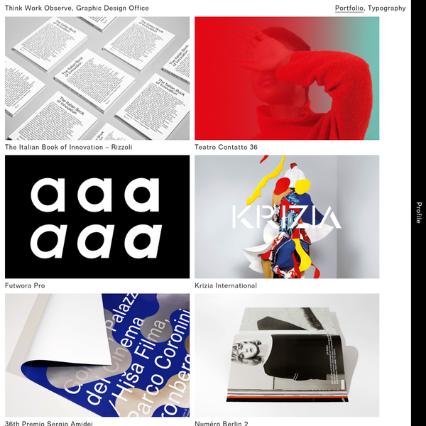 Think Work Observe is an independent graphic design studio based in Udine.