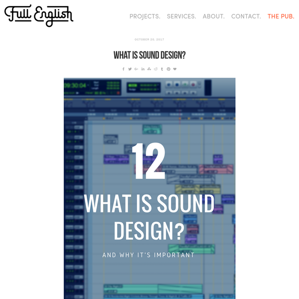 What Is Sound Design?