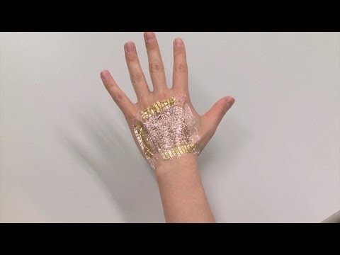 These ultra-thin, ultra-flexible electronics could become bionic skin for robots and humans. Read more: http://spectrum.ieee.org/biomedical/bionics/bionic-skin-for-a-cyborg-you