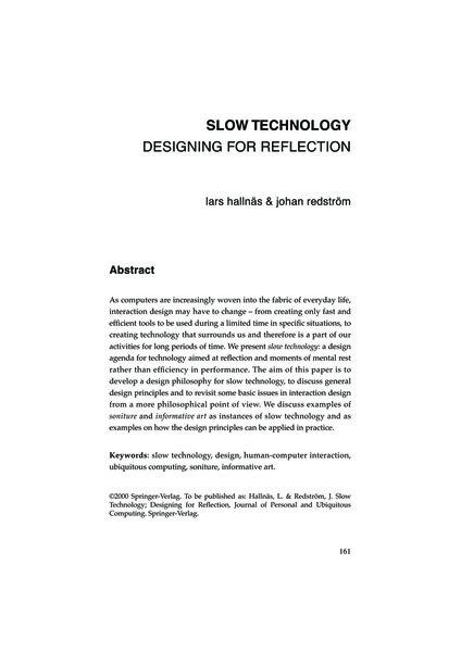 Redstrom-Slow-Technology.pdf