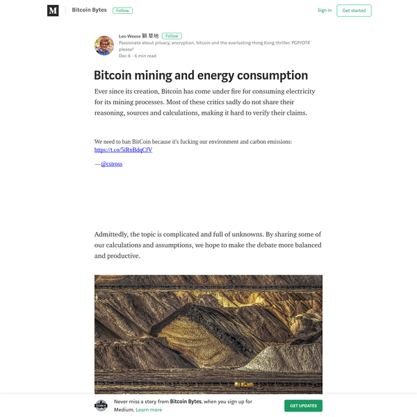 Ever since its creation, Bitcoin has come under fire for consuming electricity for its mining processes. Most of these critics sadly do not share their reasoning, sources and calculations, making it hard to verify their claims. Admittedly, the topic is complicated and full of unknowns.