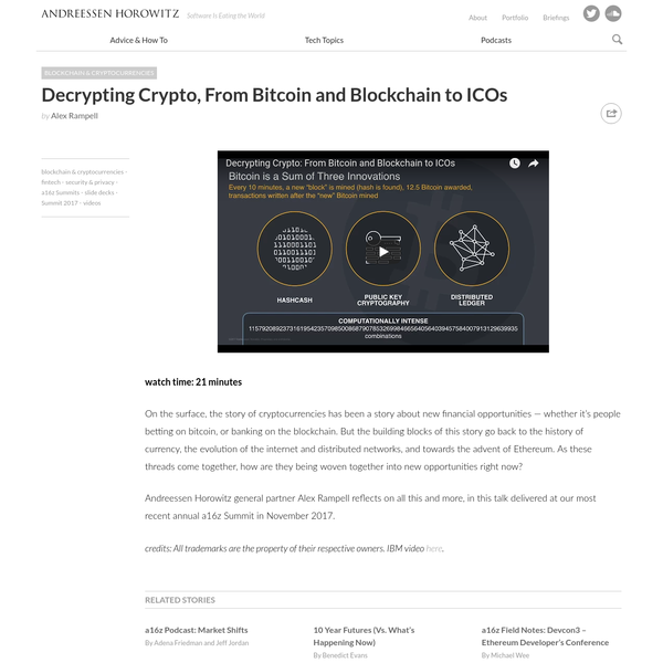 Decrypting Crypto, From Bitcoin and Blockchain to ICOs