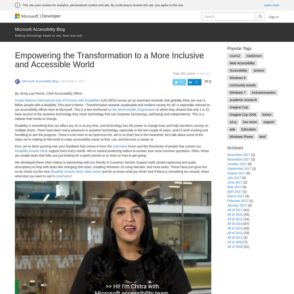 Empowering the Transformation to a More Inclusive and Accessible World