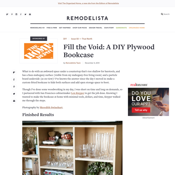 Fill the Void: A DIY Plywood Bookcase - Remodelista