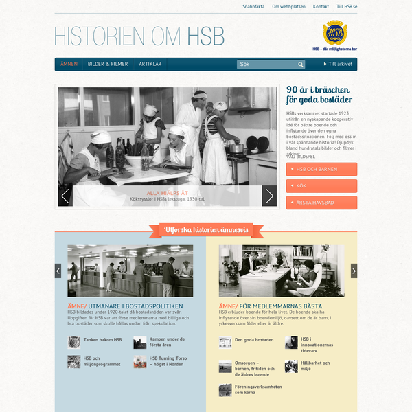 HSB - History (in Swedish)