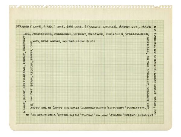 Mel Bochner, Portrait of Borges (1968)
