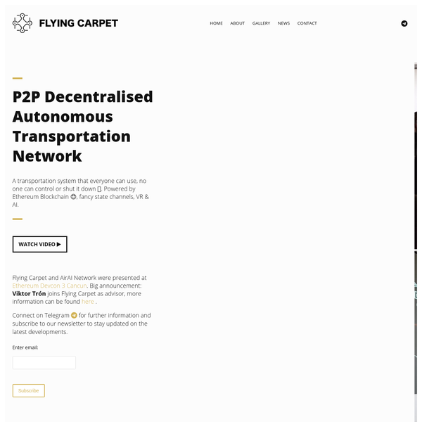 Flying Carpet - Decentralised Autonomous Transportation Network