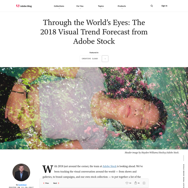 Through the World's Eyes: The 2018 Visual Trend Forecast from Adobe Stock | Adobe Blog