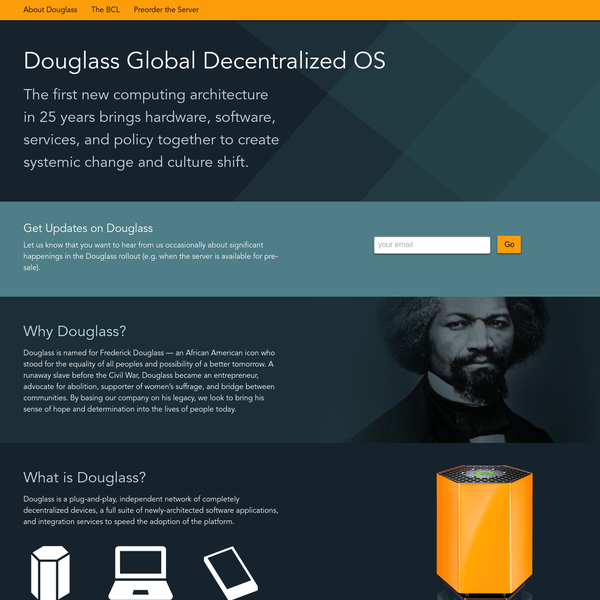 Douglass is easy to interact with, use, and adopt. The Douglass OS includes an already-working suite of applications that provide the basic functionality that people need in a computing platform.