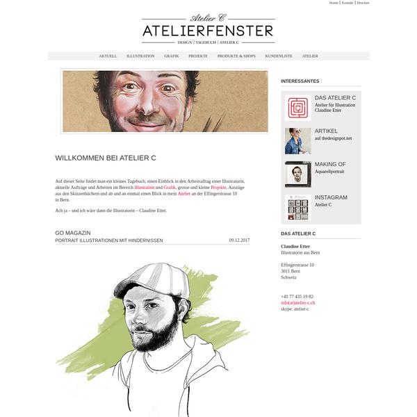 Claudine Etter, Illustratorin aus Bern: Aktuelle Arbeiten