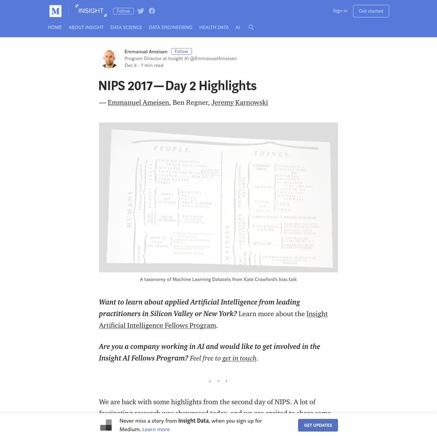 We are back with some highlights from the second day of NIPS. A lot of fascinating research was showcased today, and we are excited to share some of our favorites with you. If you missed them, feel free to check our Day 1 and Day 3 Highlights!