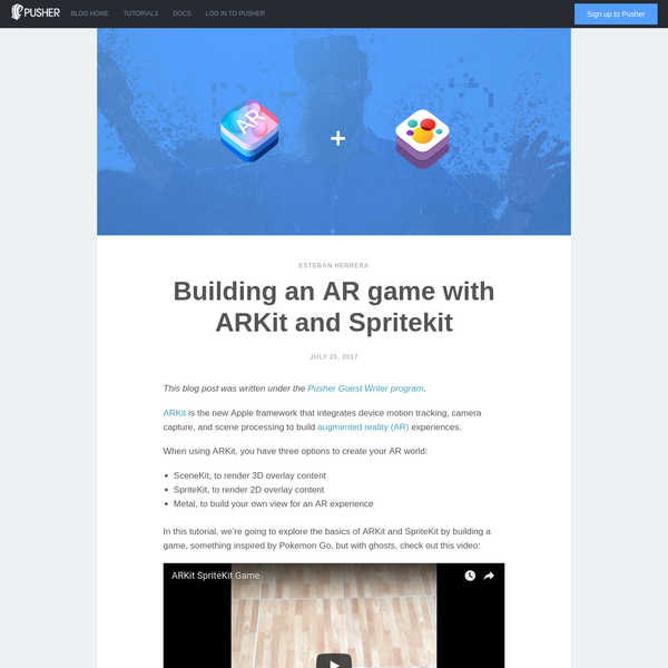 Are na / Building an AR game with ARKit and Spritekit