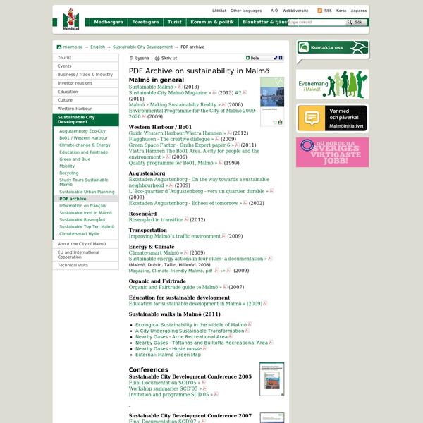 PDF archive - Malmö stad