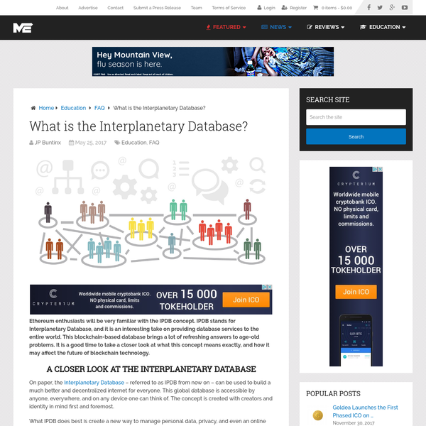 What is the Interplanetary Database?