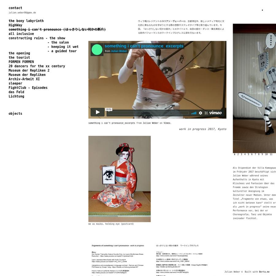 Personal portfolio built with Berta