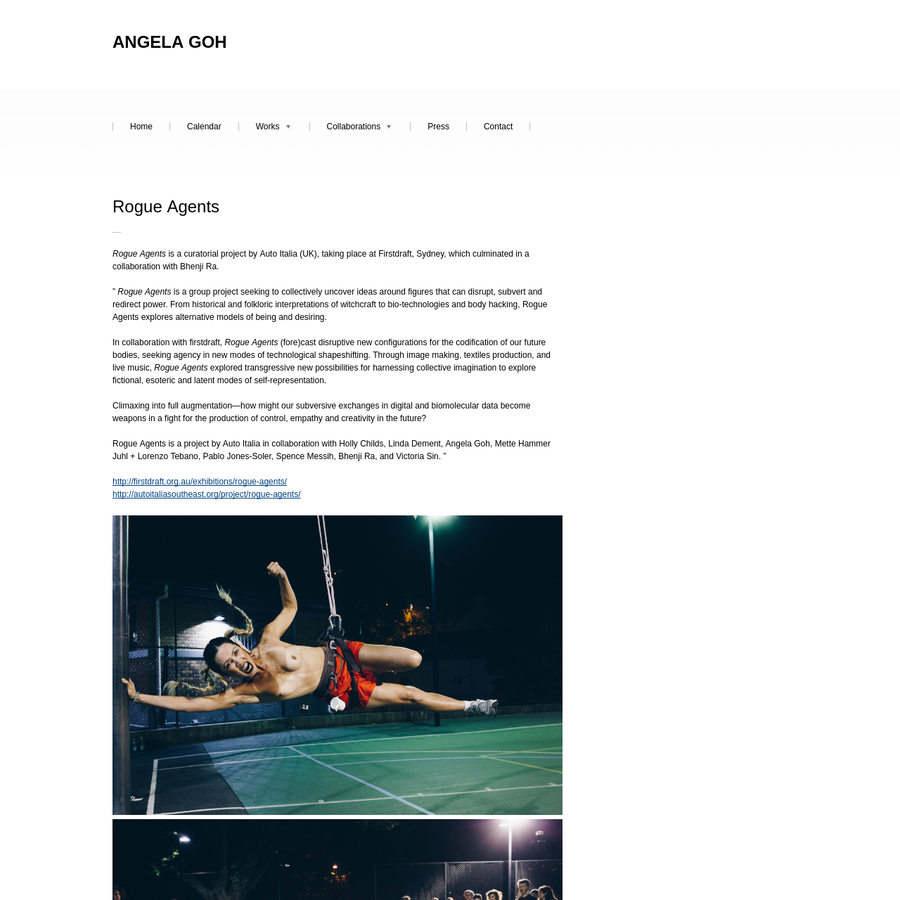 """Rogue Agents is a project by Auto Italia in collaboration with Holly Childs, Linda Dement, Angela Goh, Mette Hammer Juhl + Lorenzo Tebano, Pablo Jones-Soler, Spence Messih, Bhenji Ra, and Victoria Sin. """""""