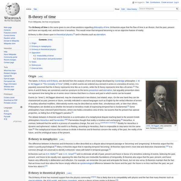 B-theory of time - Wikipedia