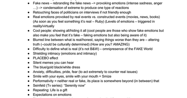 Fake Emotions in Amplified Reality