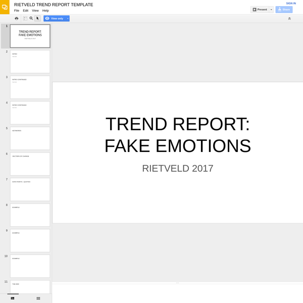 RIETVELD TREND REPORT TEMPLATE