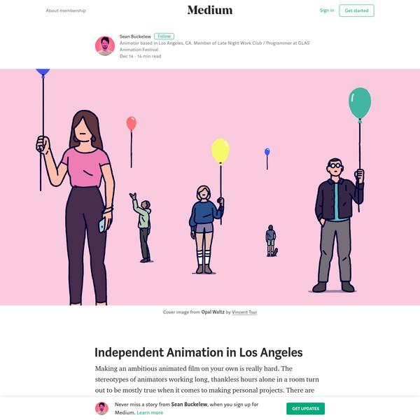 Independent Animation in Los Angeles - Sean Buckelew - Medium
