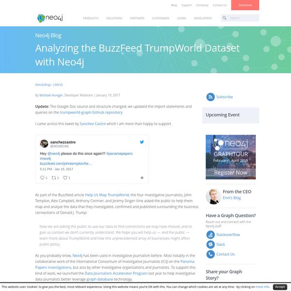Analyzing the BuzzFeed TrumpWorld Dataset with Neo4j