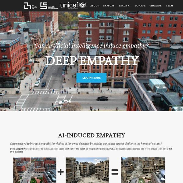 Deep Empathy by MIT Media Lab