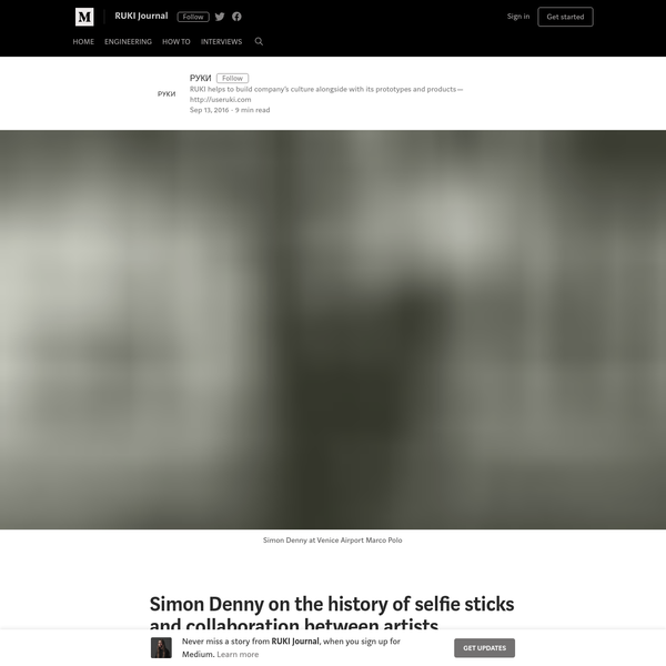 Simon Denny on the history of selfie sticks and collaboration between artists and startups