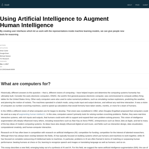 Using Artificial Intelligence to Augment Human Intelligence