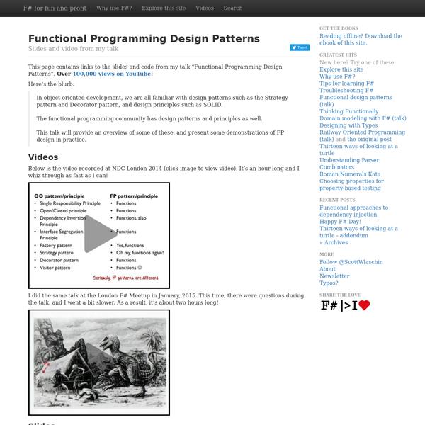 Functional Programming Design Patterns