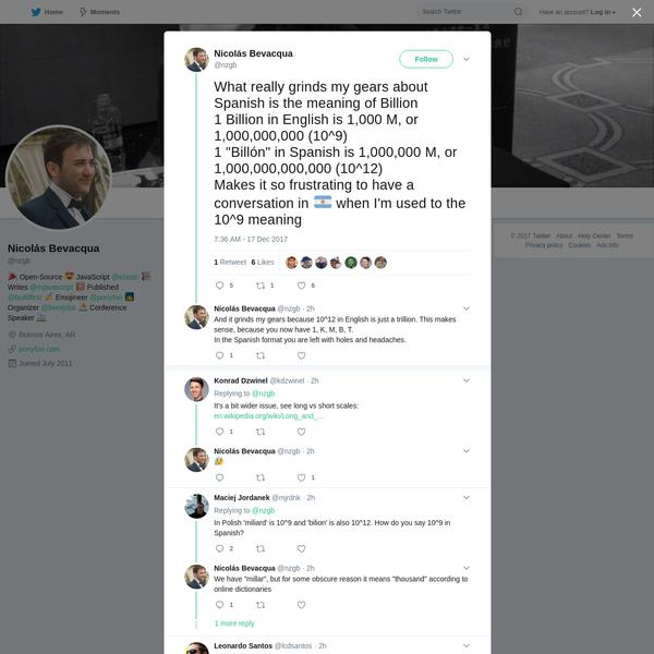 Nicolás Bevacqua on Twitter