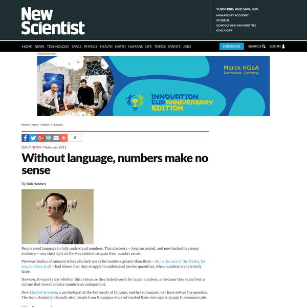 Without language, numbers make no sense