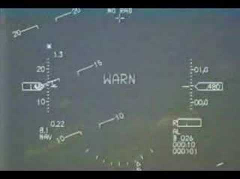 F-16 Fighting Falcon Jet HUD Demo on Airshow