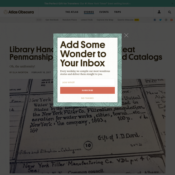 Library Hand, the Fastidiously Neat Penmanship Style Made for Card Catalogs