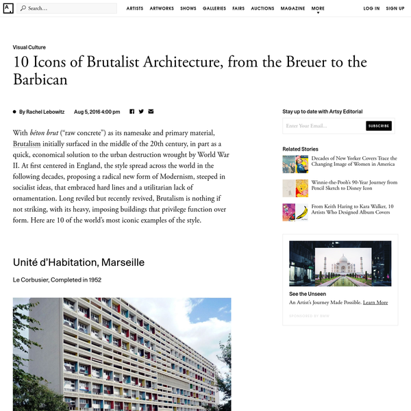 10 Bold Icons of Brutalist Architecture