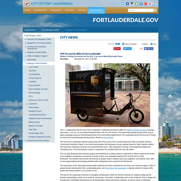 The City of Fort Lauderdale continues to reimagine existing space within our streets to provide for roadway safety and the evolving transportation needs of our residents, businesses, and visitors.