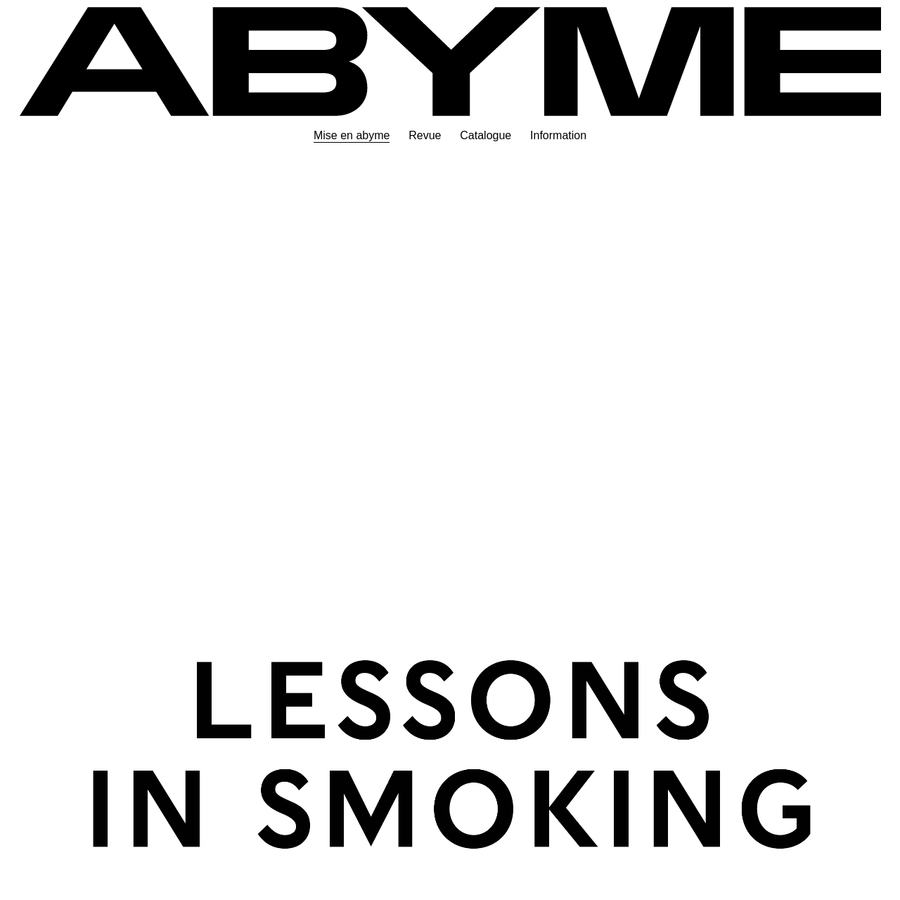 ABYME is an independent publisher of artist's editions and multiples founded by John Morgan and Adrien Vasquez in 2017.
