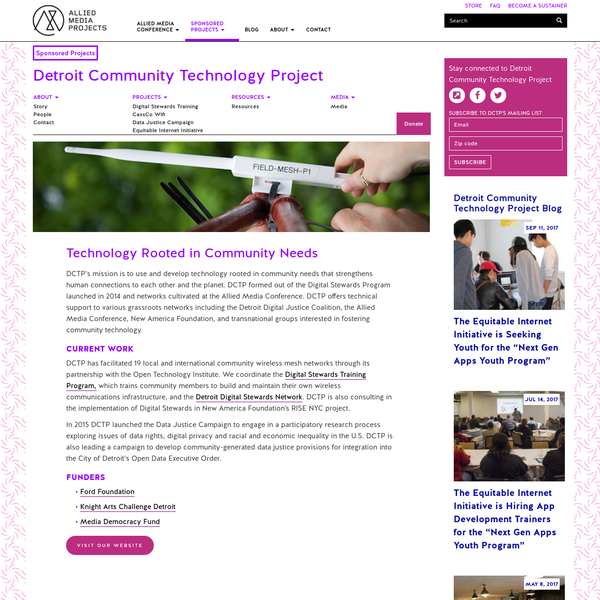 Detroit Community Technology Project