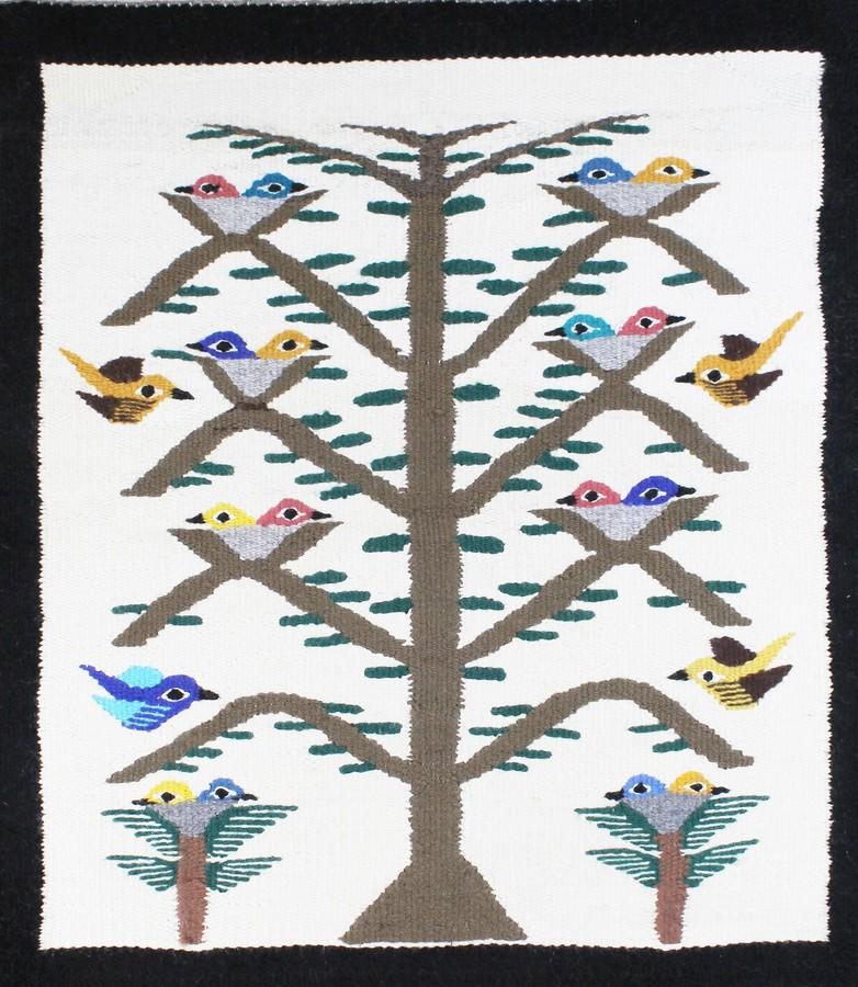 Handwoven Navajo Tree of Life Rug by Betty Dougi
