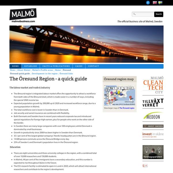 The Öresund Region - a quick guide   Malmobusiness.com