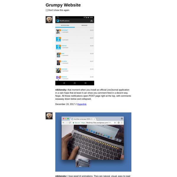 Grumpy Website