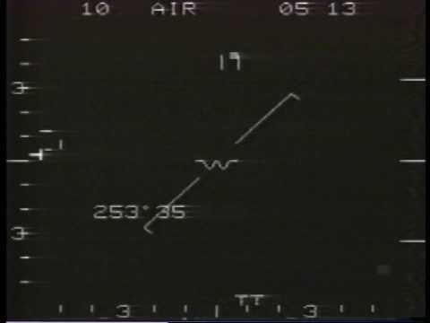 Belgium Military F-16 Radar Lock-on Footage