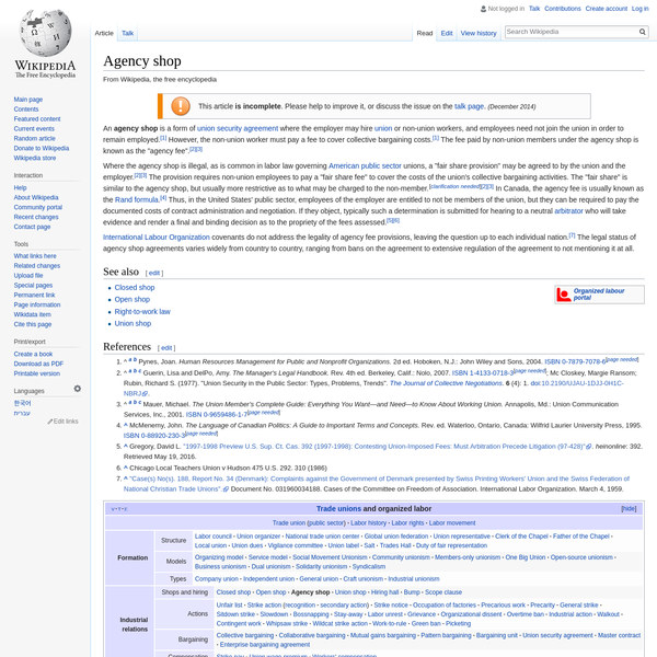Agency shop - Wikipedia