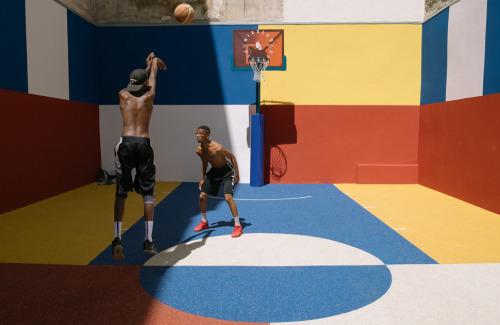 Le plus beau terrain de basket de Paris...